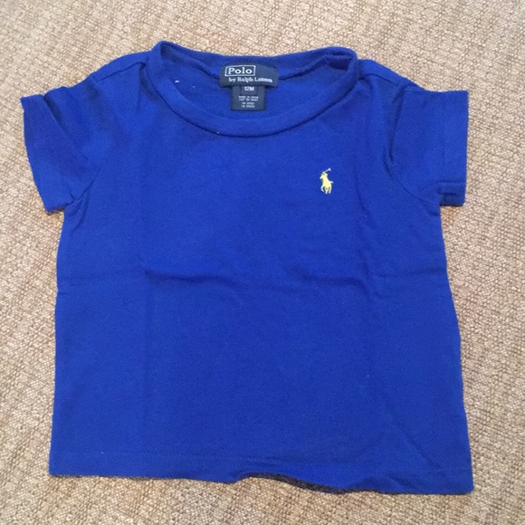 BNWT BOYS RALPH LAUREN T SHIRT  AGE 12   MONTHS SHORT SLEEVE ROYAL  BLUE